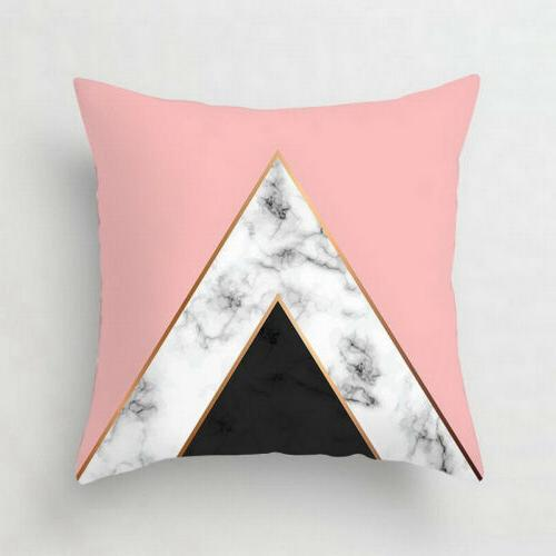 Pink pillow case car waist cushion Decor