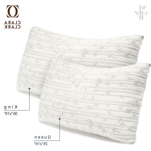 Bamboo Shredded Memory Foam Pillow Hypoallergenic Washable C