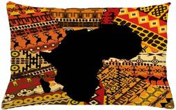 Lunarable African Throw Pillow Cushion Cover, Abstract Style