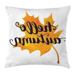 Maple Tree Throw Pillow Cases Cushion Covers by Ambesonne Ho