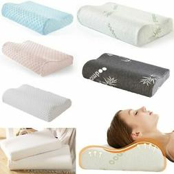 memory foam pillow orthopedic neck support breath