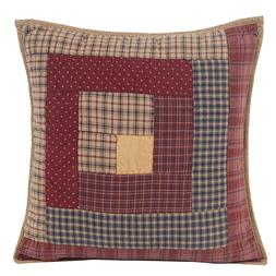 MILLSBORO Throw Pillow Filled Plaid Lodge Log Cabin Patchwor