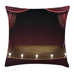 Lunarable Musical Theatre Throw Pillow Cushion Cover, Vintag