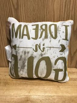 "NEW JAY FRANCO "" I DREAM IN GOLD THROW PILLOW 12X12 Inch SPA"