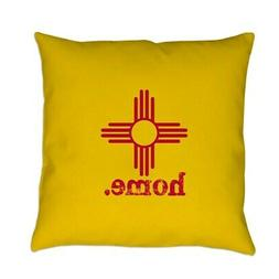CafePress New Mexico Zia Symbol Yellow Everyday Pillow