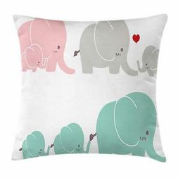 Nursery Animals Throw Pillow Cases Cushion Covers Ambesonne