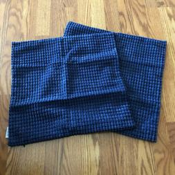 """NWOT Pair of CaliTime Navy Blue Chenille Pillow Covers 17"""""""