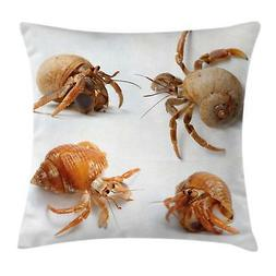 Ocean Crabs Throw Pillow Cases Cushion Covers by Ambesonne H