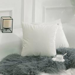 Pack of 4 Throw Pillows Insert Bed Couch Pillows Pillowcase