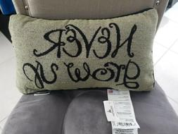 Disney Parks AUTHENTIC NEVER GROW UP PILLOW- RARE - NEW WITH