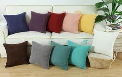 CaliTime Pillows Throw Cushion Covers Solid Soft Corduroy Co