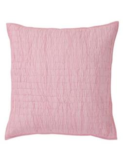 VHC Brands Rochelle Pale Pink Quilted Euro Sham Pillow Cover