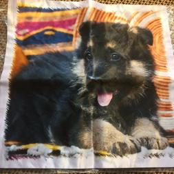 "SATIN  PILLOW COVER German Shepherd Pup  16""x16"" by 3D ROSE"