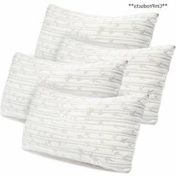 Set of 4 Bamboo Pillow, Clara Clark Rayon made from Shredded