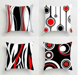 Emvency Set of 4 Throw Pillow Covers 18x18 Inches