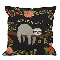 Sloth Throw Pillow Covers Decorative by HGOD Designs Follow
