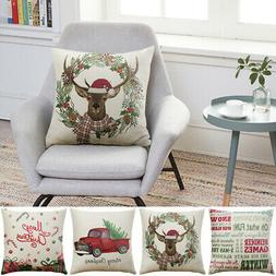 Sofa Pillow Cushion Case Home Decor Cotton Blend Cushion Cov