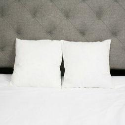 Square Goose Down Pillow Insert - Set of 2 by Sweet Home Col