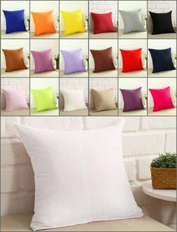 Square Home Sofa Decor Zipper Pillow Cover Case Cushion Cove