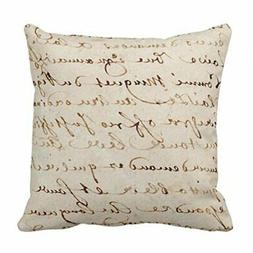Emvency Throw Pillow Cover 1700S Vintage French Script Grung