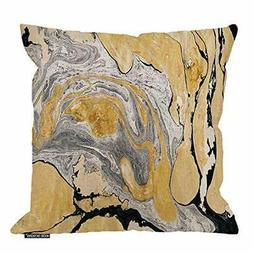 HGOD DESIGNS Throw Pillow Cover Black Gold Golden and Silver