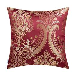 CaliTime Throw Pillow Shell Cushion Cover Floral Reversible