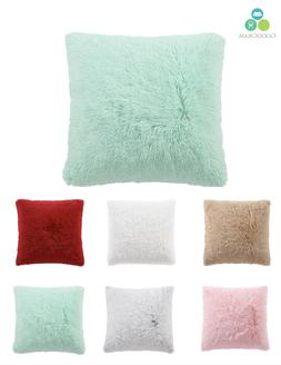 Ultra Plush Over Sized & Over Filled Shaggy Throw Pillows -