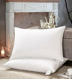 White Goose Down Pillows with Feather Blended Queen size 20x